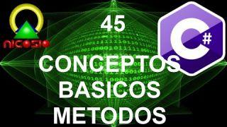 Tutorial C# 45 - Conceptos básicos de los métodos - Curso completo en español