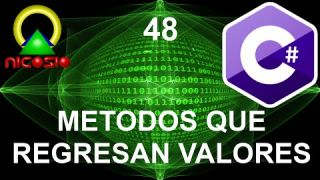 Tutorial C# 48 - Métodos que regresan valores - Curso completo en español