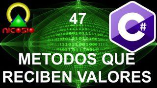Tutorial C# 47 - Métodos que reciben valores- Curso completo en español