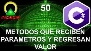 Tutorial C# 50 - Métodos que reciben parámetros y regresan valor - Curso completo en español