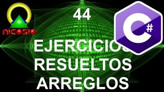 Tutorial C# 44- Ejercicios resueltos arreglos - Curso completo en español